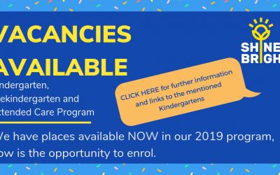 Kindergarten, Prekindergarten and Extended Care Vacancies
